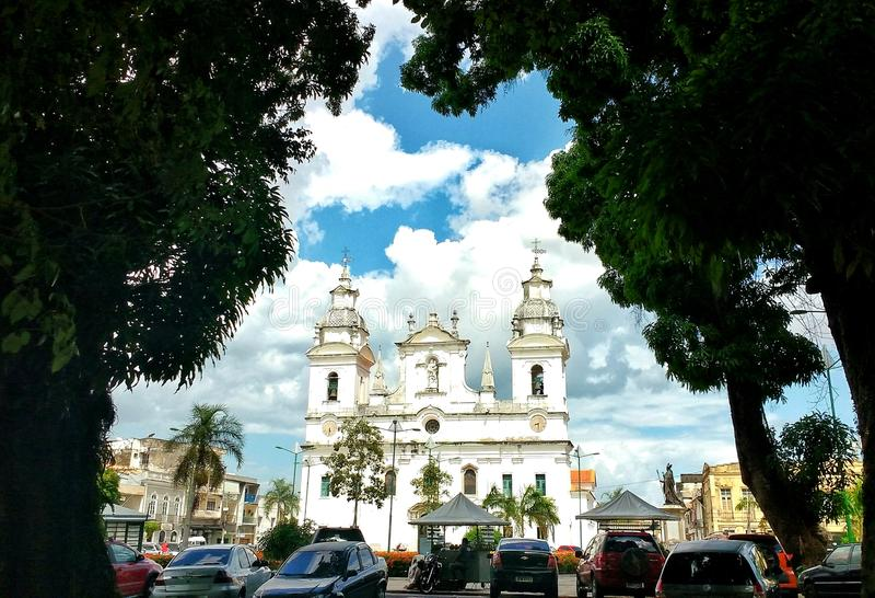 Catedral Metropolitana DE Belém, Brazilië stock foto's