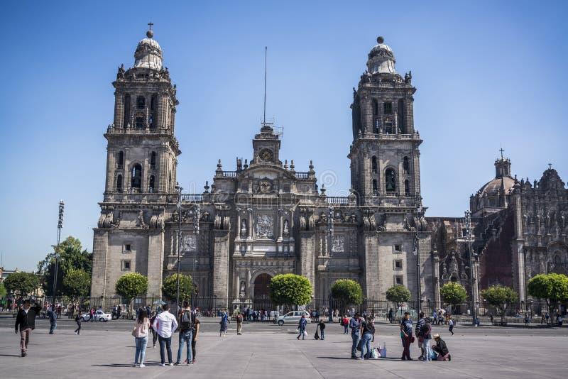 Catedral metropolitana de Cidade do México, Cidade do México, México imagem de stock royalty free