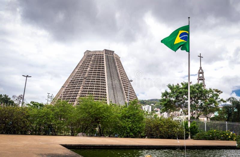 Catedral metropolitana de Rio De Janeiro (San Sebastián) fotos de archivo