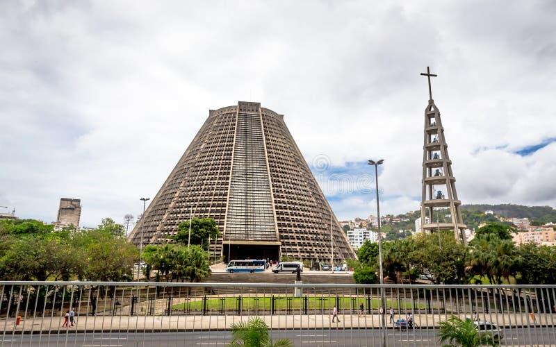 Catedral metropolitana de Rio De janeiro (San Sebastian) foto de stock