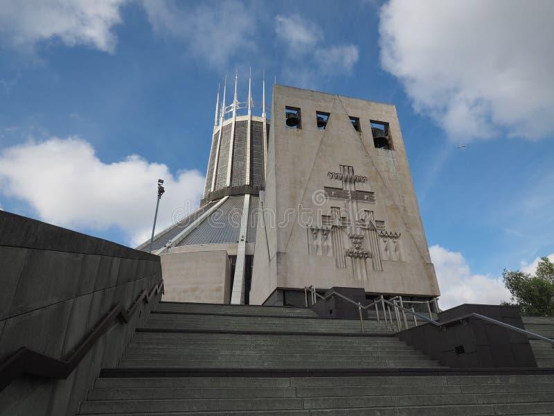 Catedral metropolitana en Liverpool imagen de archivo