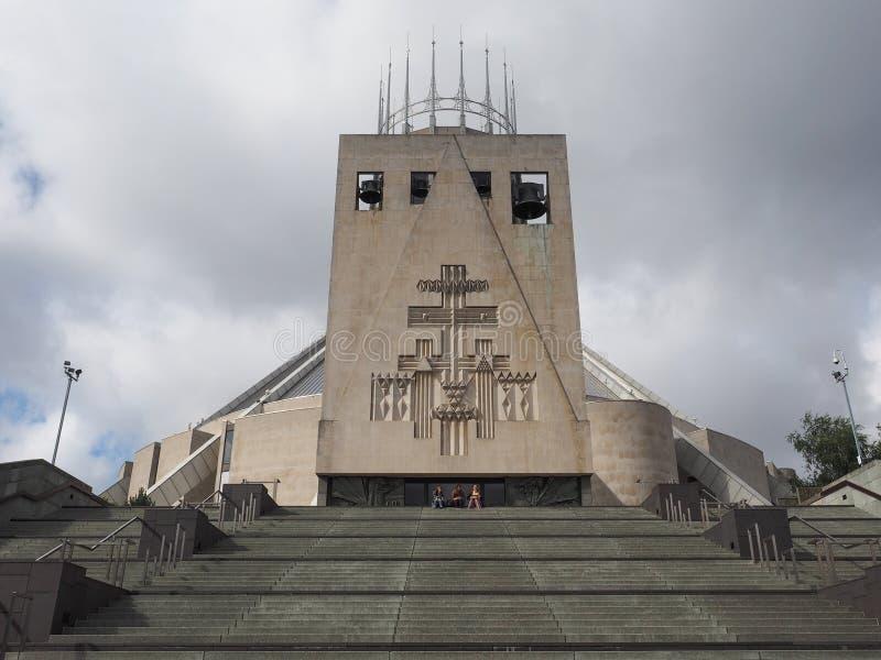 Catedral metropolitana en Liverpool fotografía de archivo libre de regalías