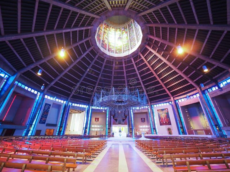Catedral metropolitana en Liverpool imagenes de archivo