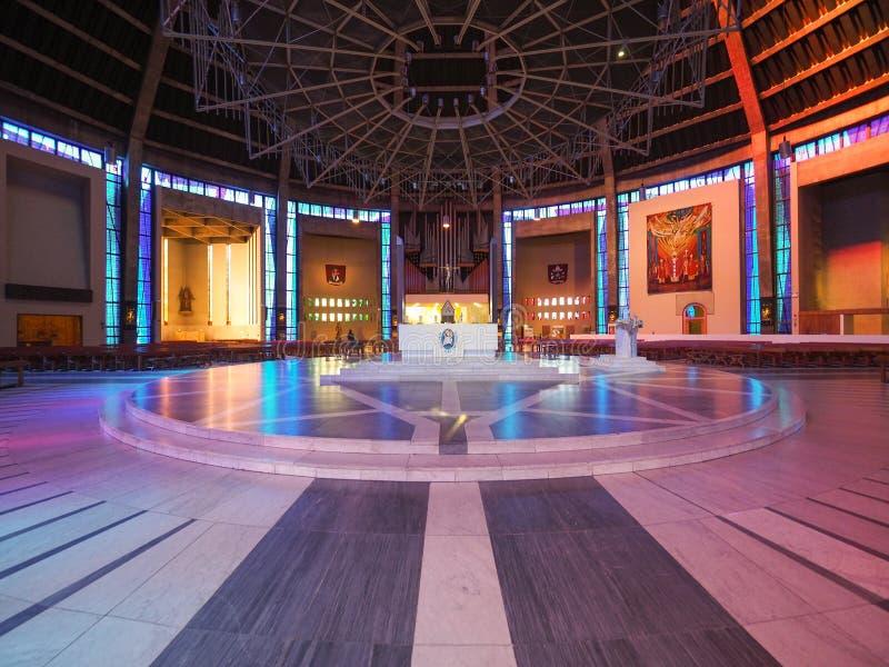 Catedral metropolitana en Liverpool imagen de archivo libre de regalías