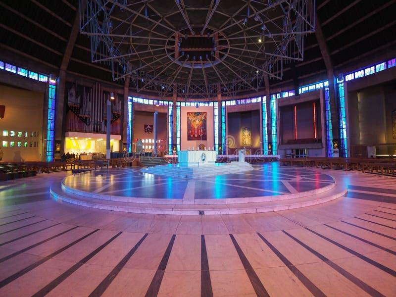 Catedral metropolitana en Liverpool fotografía de archivo