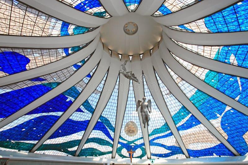 Catedral Metropolitana Nossa Senhora Aparecida imagenes de archivo