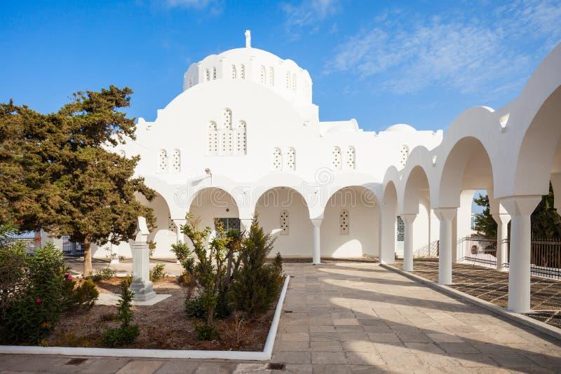 Catedral metropolitana ortodoxo de Fira imagens de stock