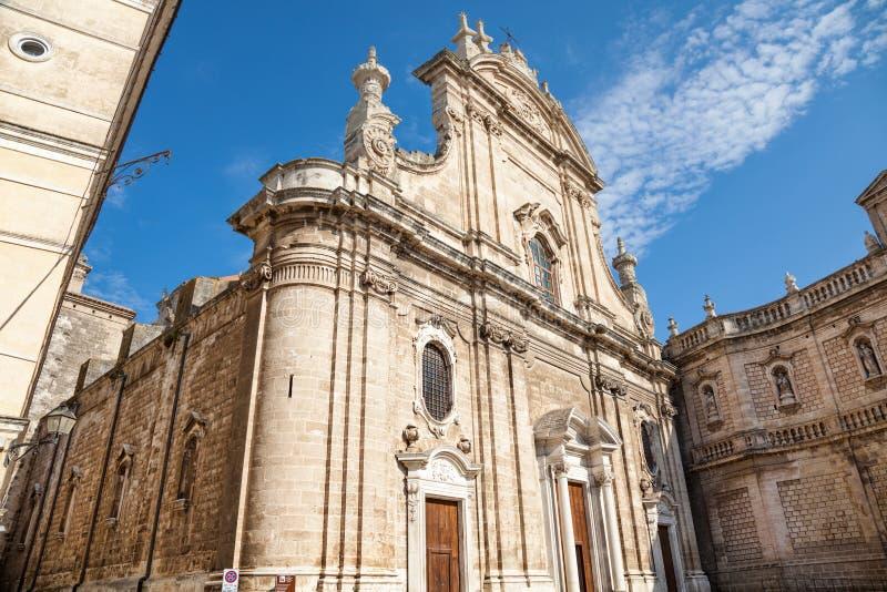 Catedral na cidade antiga de Monopoli imagem de stock royalty free
