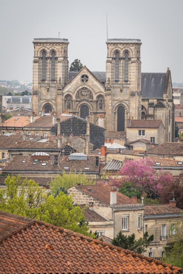 A catedral na cidade do Bordéus imagens de stock royalty free
