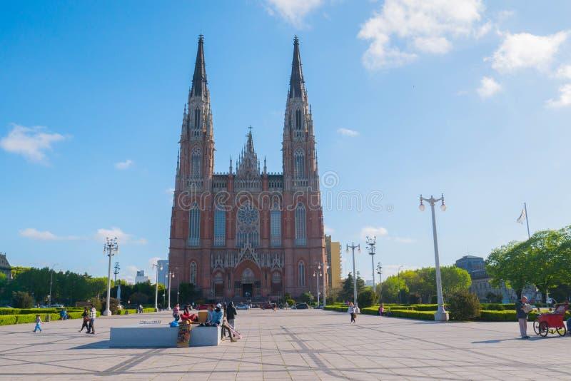 A catedral na cidade do La Plata imagens de stock