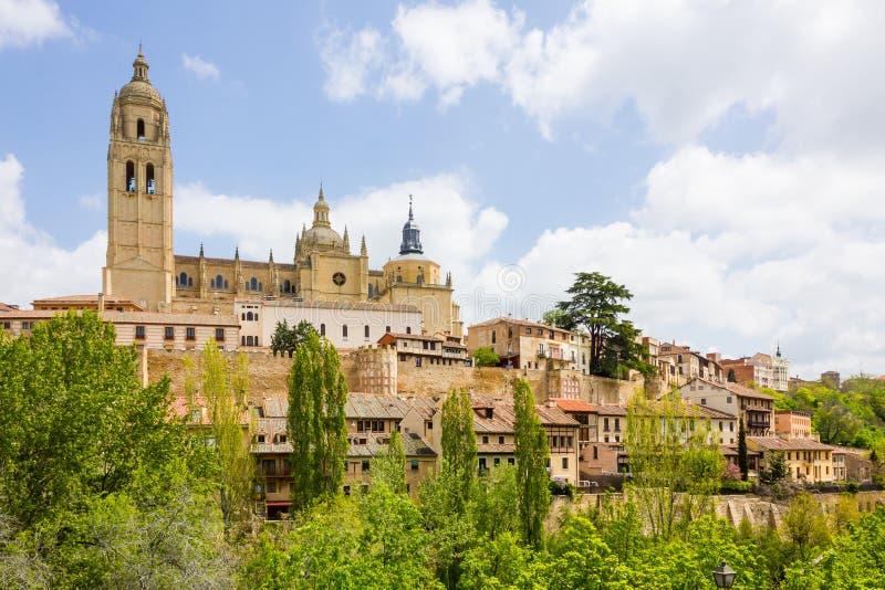 Catedral na cidade histórica de Segovia, Castilla y Leon, Spai fotografia de stock royalty free
