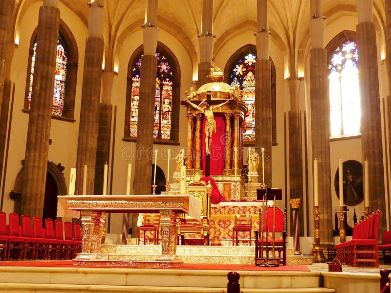 Catedral na cidade San Cristobal de la Laguna fotos de stock