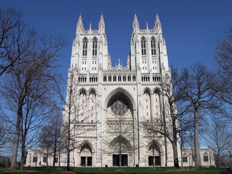 Catedral - nacional de Washington imagem de stock royalty free