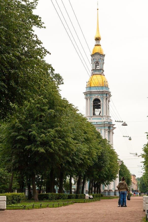 Catedral naval do Nicholas-esmagamento fotografia de stock royalty free