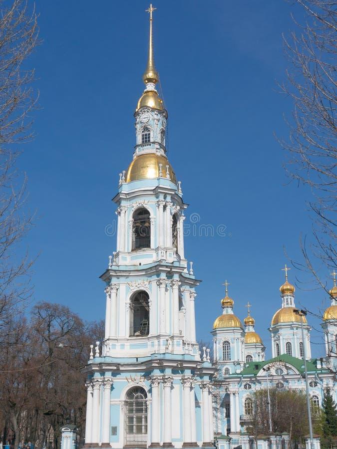 Catedral naval do Nikolo-esmagamento em St Petersburg, R?ssia imagem de stock royalty free