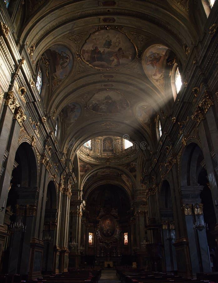 Catedral NC-Itália de Fossano imagem de stock royalty free