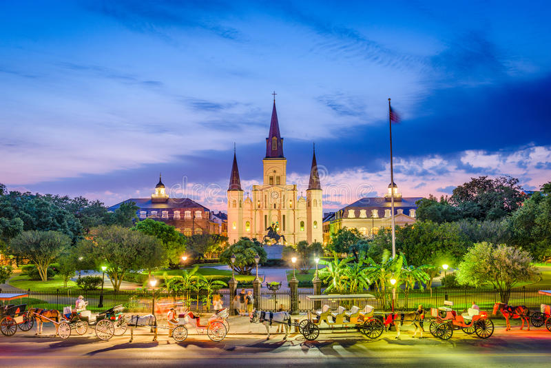 Catedral New Orleans de St Louis fotografía de archivo