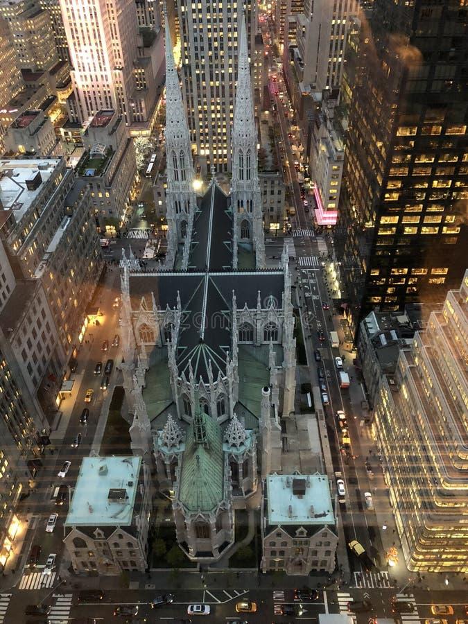 Catedral New York City de San Patricio imágenes de archivo libres de regalías
