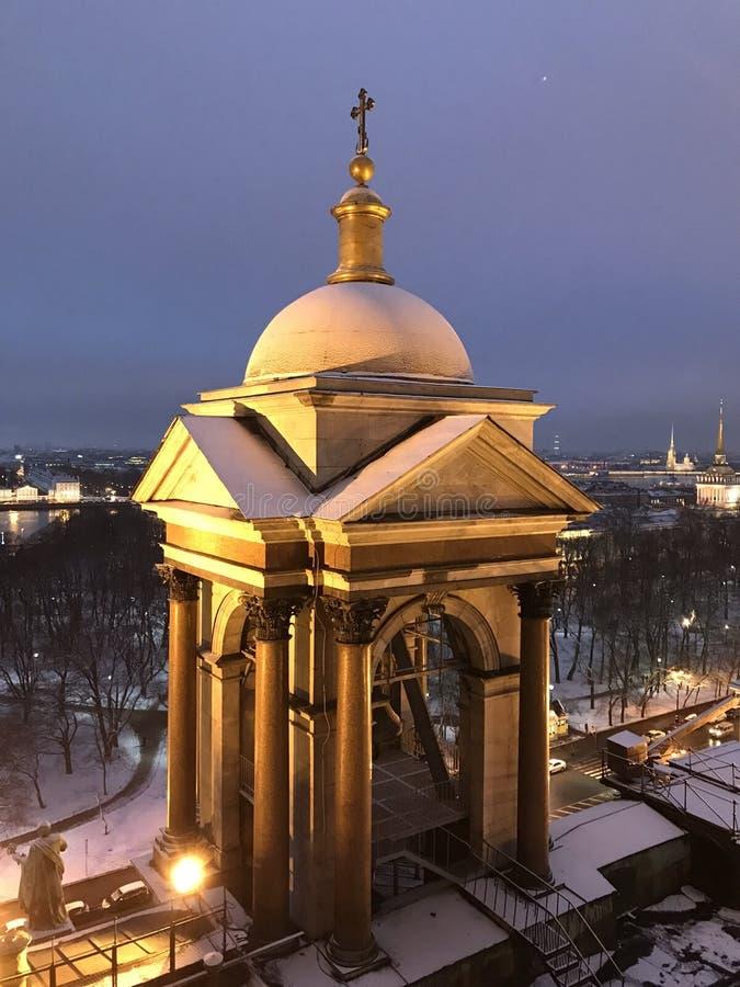 Catedral no crepúsculo foto de stock