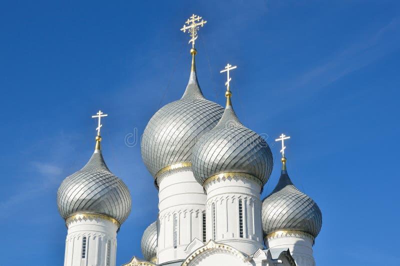 Catedral no Kremlin de Kolomna, anel dourado de Uspensky de Rússia fotos de stock royalty free