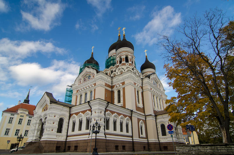 Catedral no Tallinn foto de stock royalty free