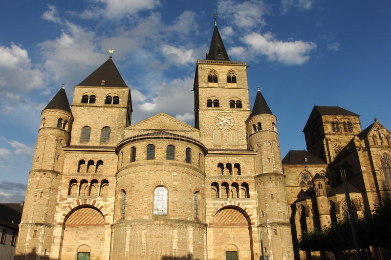 Catedral no trier fotografia de stock royalty free