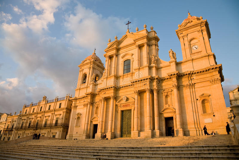 Catedral, Noto, Sicília imagem de stock royalty free