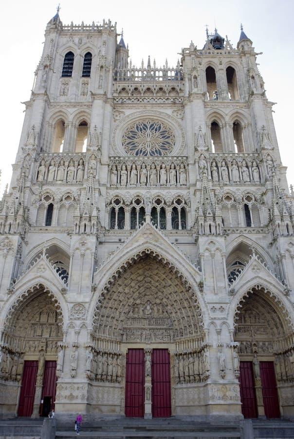 Catedral Notre Dame, Amiens, Picardia, França imagem de stock