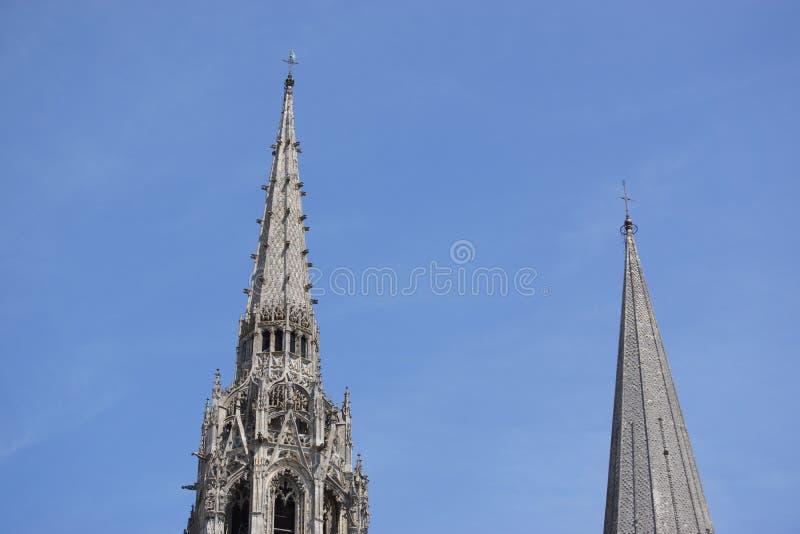 A catedral Notre-Dame de Chartres - França imagem de stock