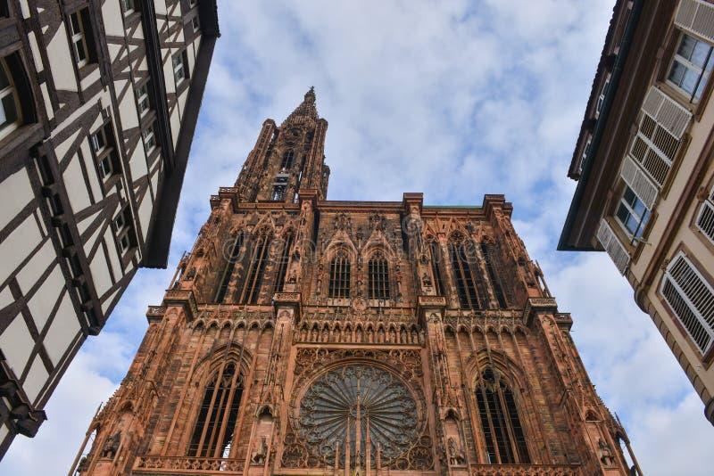 Catedral Notre Dame de Strasbourg, Bas Rhin, Alsácia foto de stock