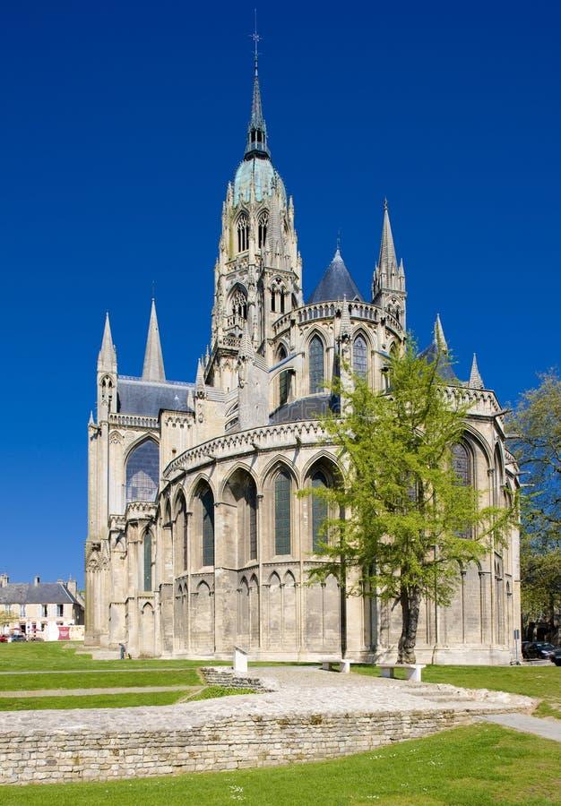 Catedral Notre Dame em Bayeux fotografia de stock royalty free