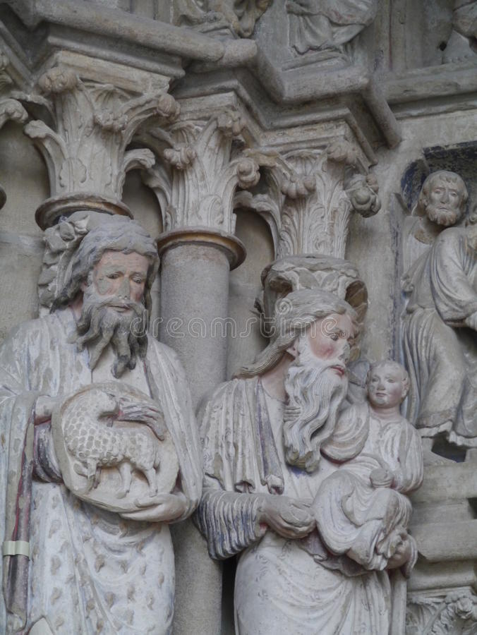 Catedral Notre-Dame en Lausanne en Suiza foto de archivo