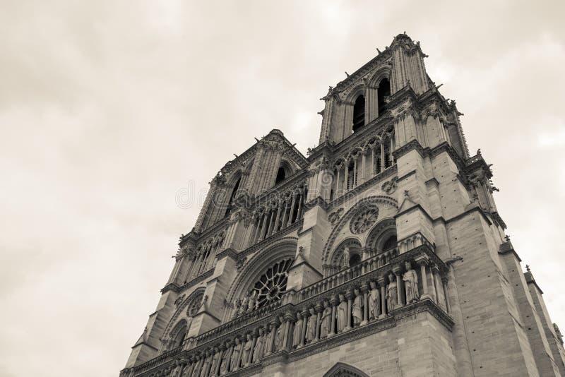 Catedral Notre Dame en París Francia imagen de archivo