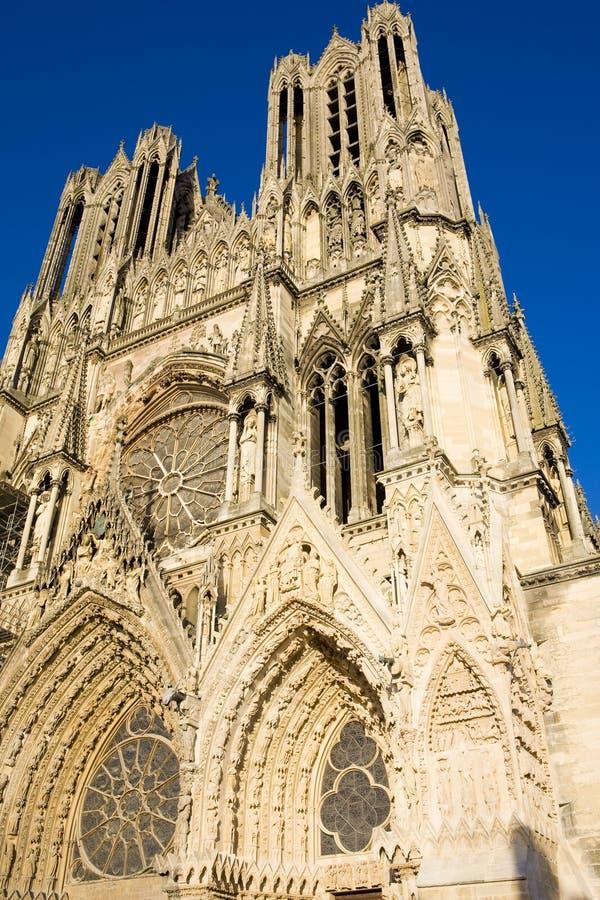 Catedral Notre Dame, Reims fotos de stock royalty free