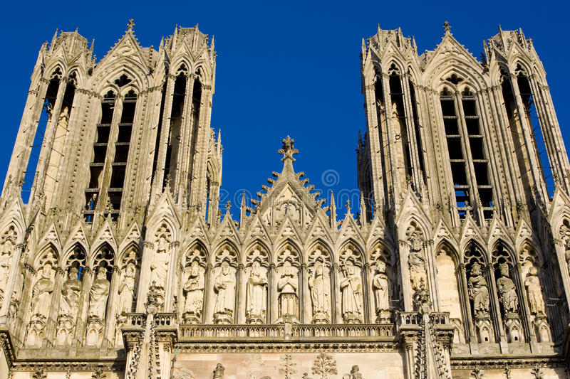 Catedral Notre Dame, Reims imagens de stock royalty free