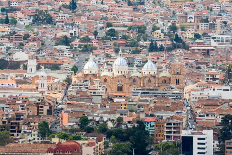 Catedral nova de Cuenca, Equador imagens de stock royalty free
