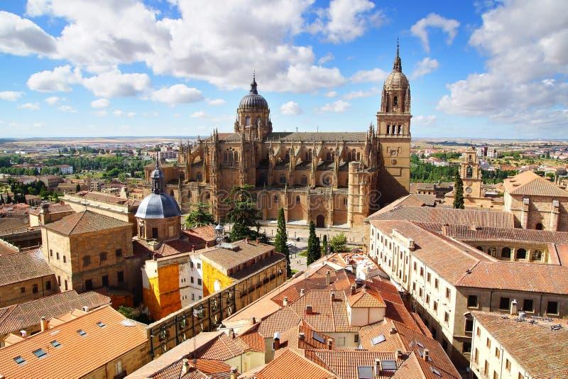 Catedral nova Salamanca fotografia de stock