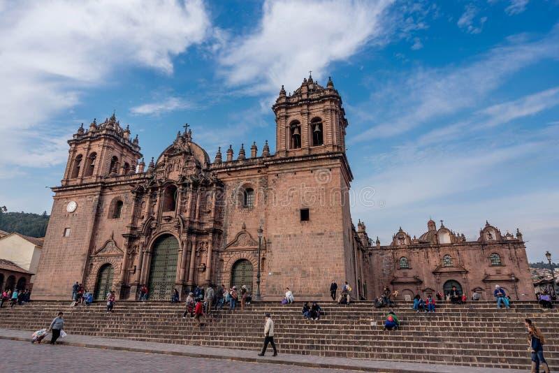 Catedral Nuestra Sra de Cusco la Asuncion, Perú de imagen de archivo libre de regalías