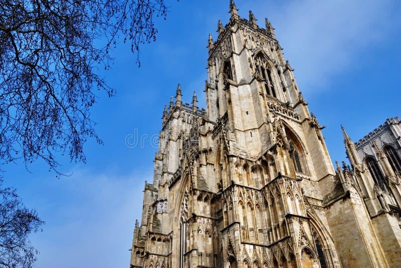 Catedral ocidental da igreja de York da torre imagem de stock