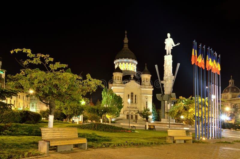 Catedral ortodoxa de Cluj-Napoca, Rumania imagenes de archivo