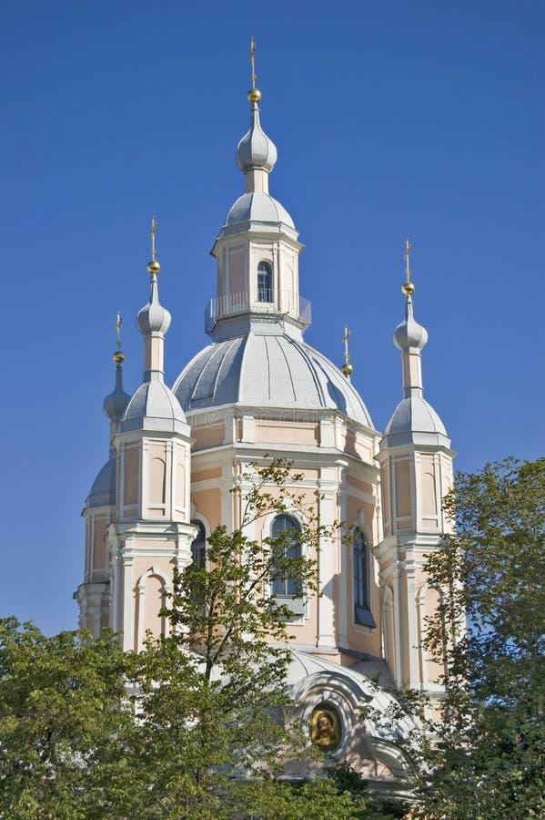 Catedral ortodoxa en St. - Petersburgo. imagenes de archivo