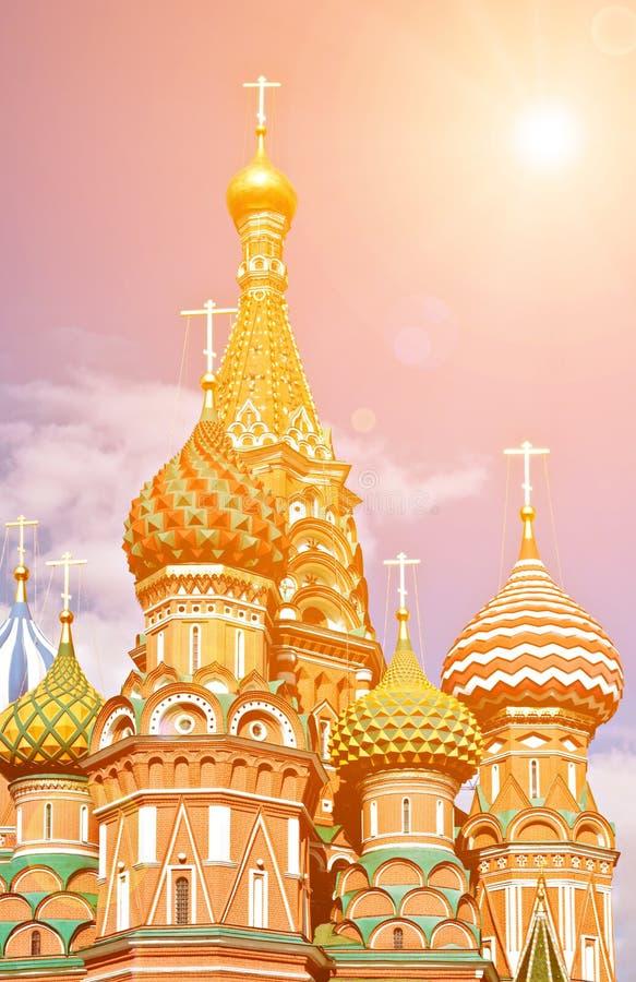 Catedral ortodoxo da manjericão de Saint fotografia de stock royalty free