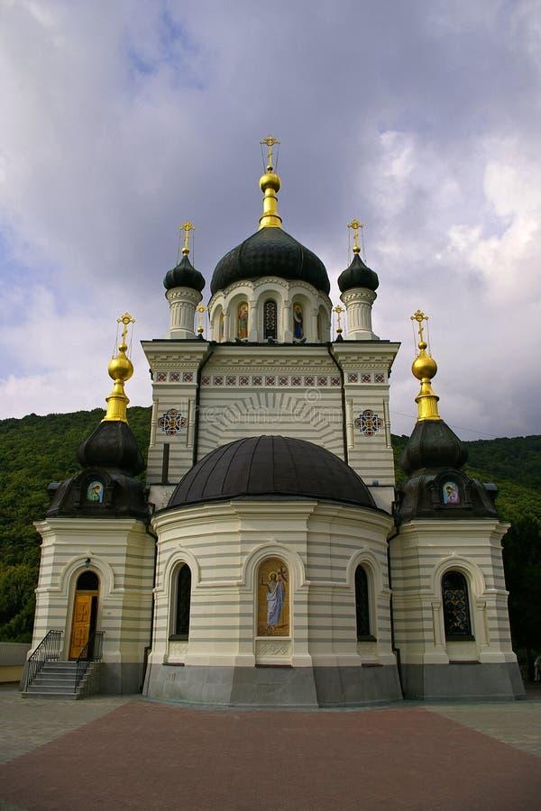 Catedral ortodoxo de Foros Crimeia, Ucrânia foto de stock