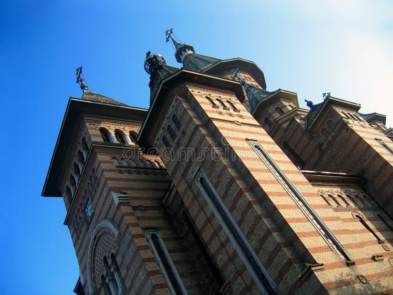 Catedral ortodoxo de Timisoara fotos de stock royalty free