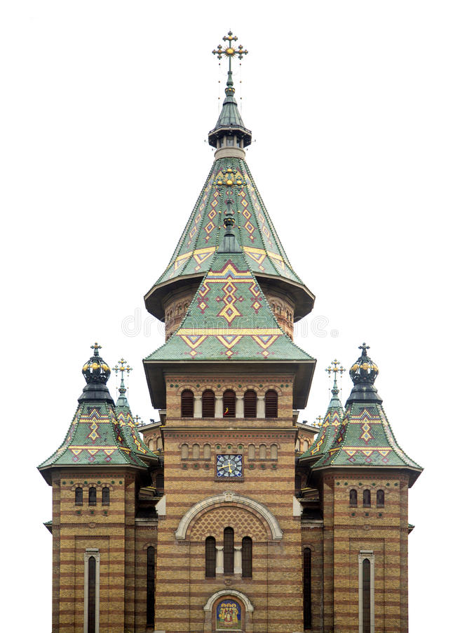 Catedral ortodoxo de Timisoara em Romênia fotografia de stock