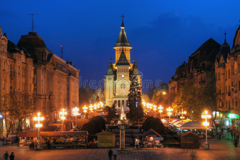 Catedral ortodoxo de Timisoara, Romania foto de stock