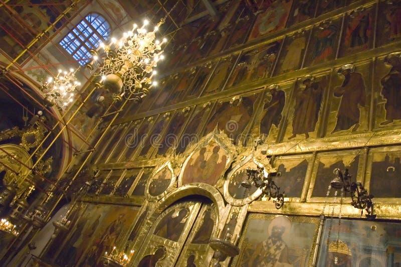 Catedral ortodoxo do interior foto de stock