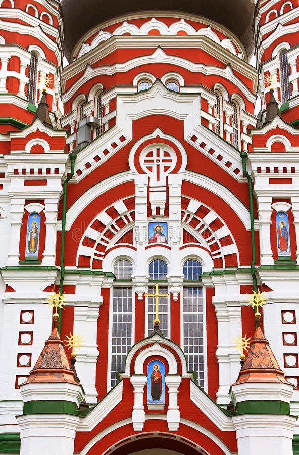 Catedral ortodoxo em Feofaniya, Kyiv, Ucrânia fotos de stock royalty free