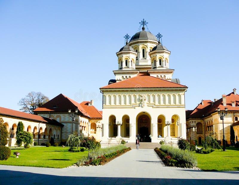 Catedral ortodoxo em Iulia alba foto de stock royalty free