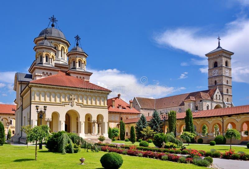 Catedral ortodoxo em Iulia alba imagens de stock royalty free